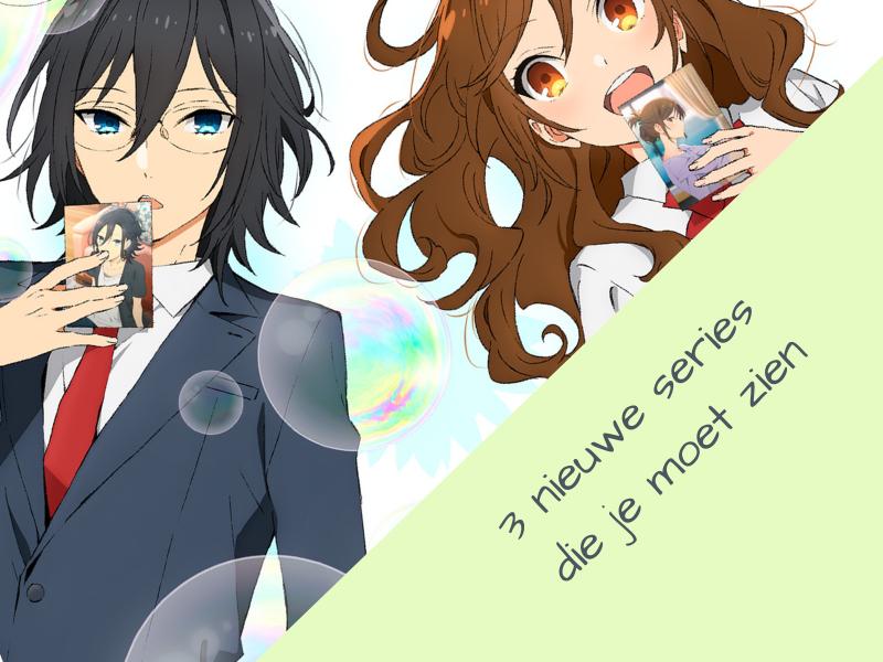 Winter Anime Preview 2021 thumbnail met promotie afbeelding van Horimiya. Dat is een van de 3 anime series die in dit artikel besproken gaan worden.